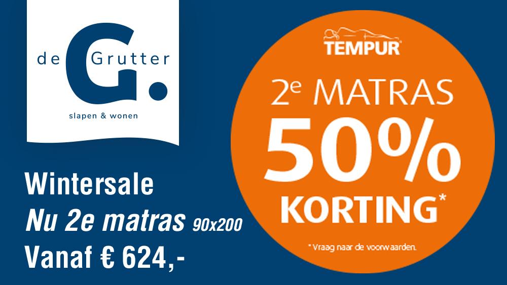 Tempur Wintersale 50% Korting Op De 2e Matras